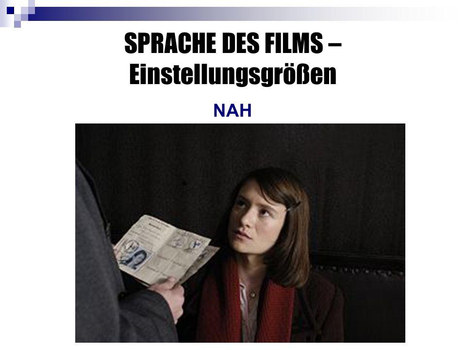 SPRACHE DES FILMS – Einstellungsgrößen NAH
