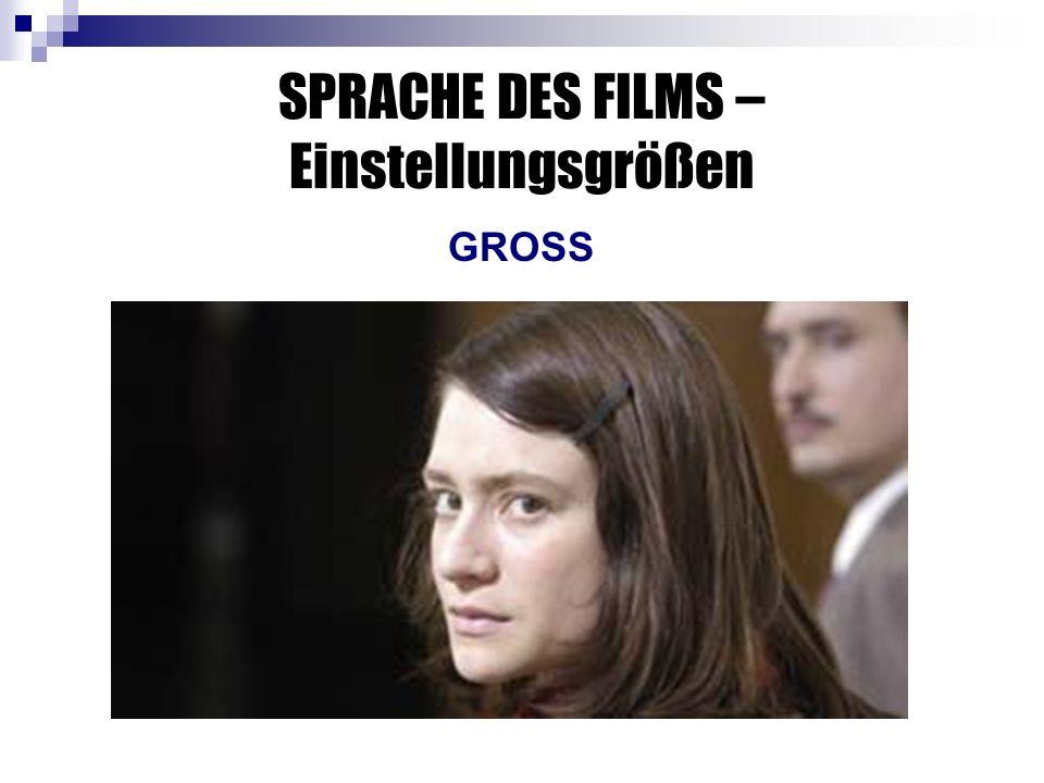SPRACHE DES FILMS – Einstellungsgrößen GROSS