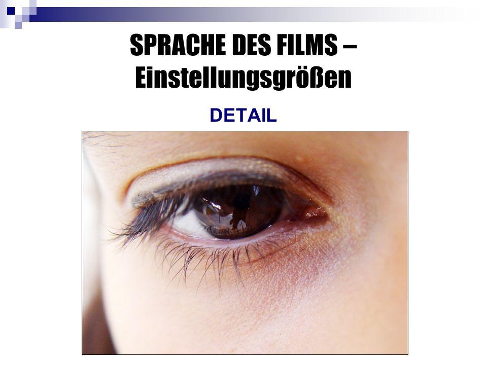 SPRACHE DES FILMS – Einstellungsgrößen DETAIL