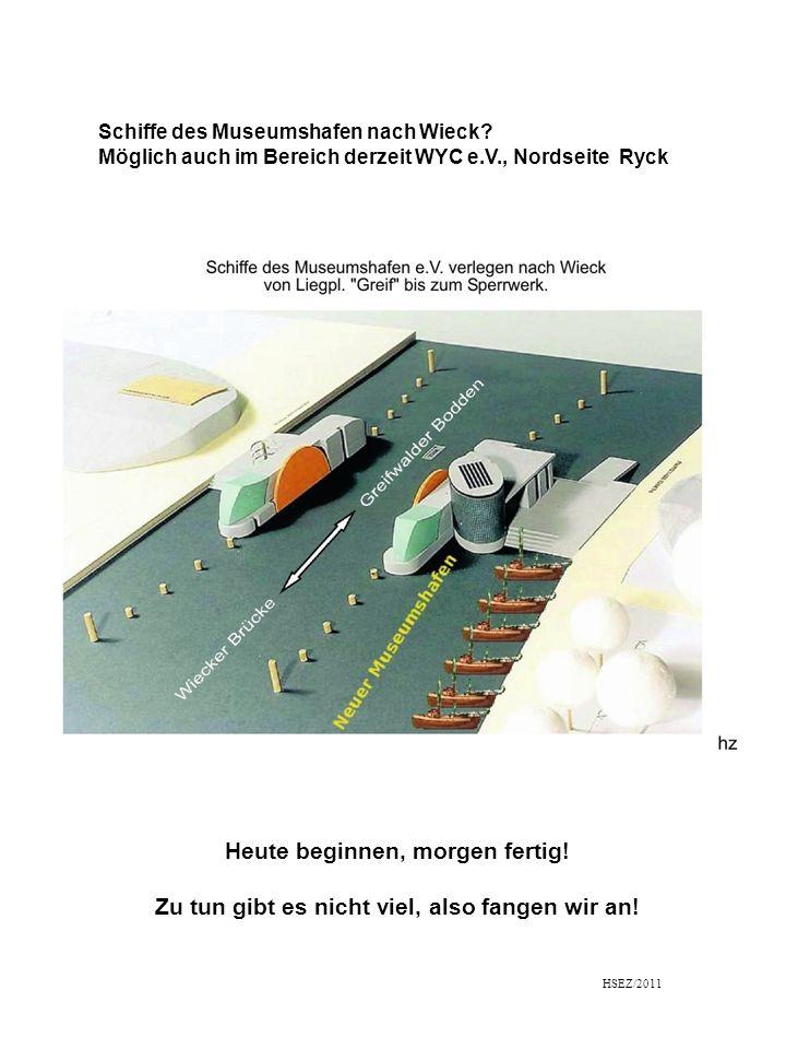 Schiffe des Museumshafen nach Wieck.