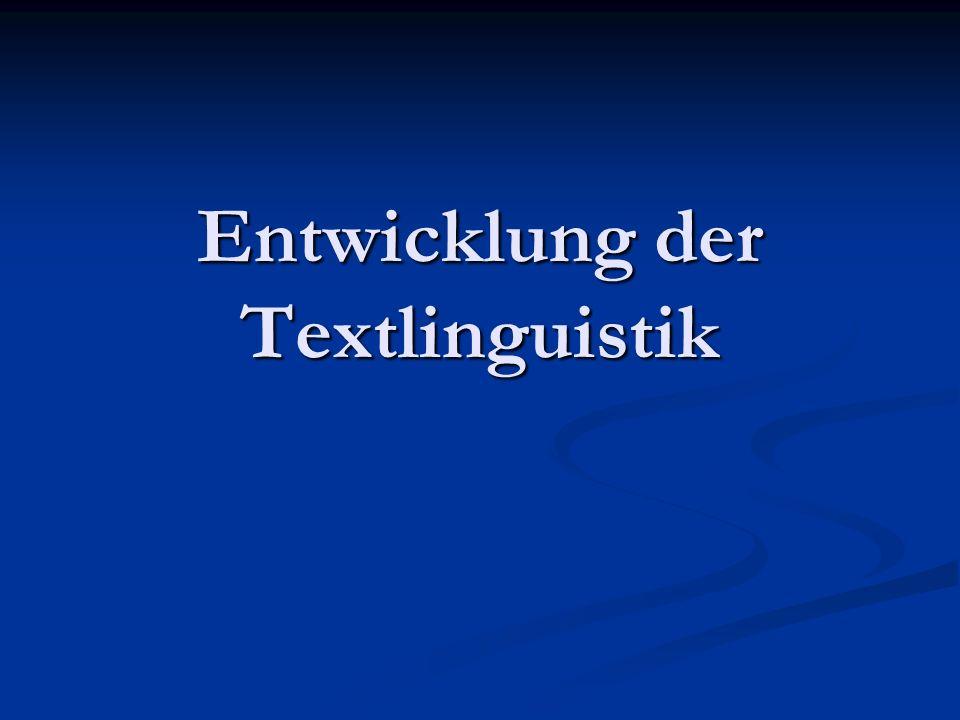 Gliederung 1.Texte in Rhetorik und Stilistik 1. Texte in Rhetorik und Stilistik 2.