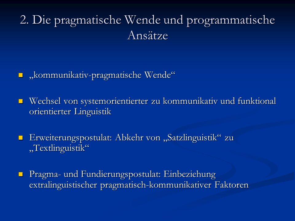 3.Texte als transphrastische Ganzheiten 3.1.