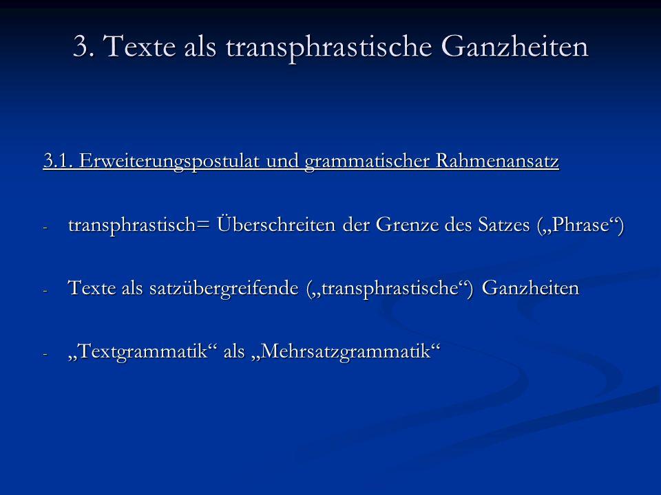 Fazit - Versuch einer möglichst adäquaten Kennzeichnung von Textganzheiten - Textlinguistik als eigenständige Wissenschaftsdisziplin - Existenz mehrerer Lösungsansätze für Funktionieren von Texten - Textbeschreibung als interdisziplinäres Problemfeld