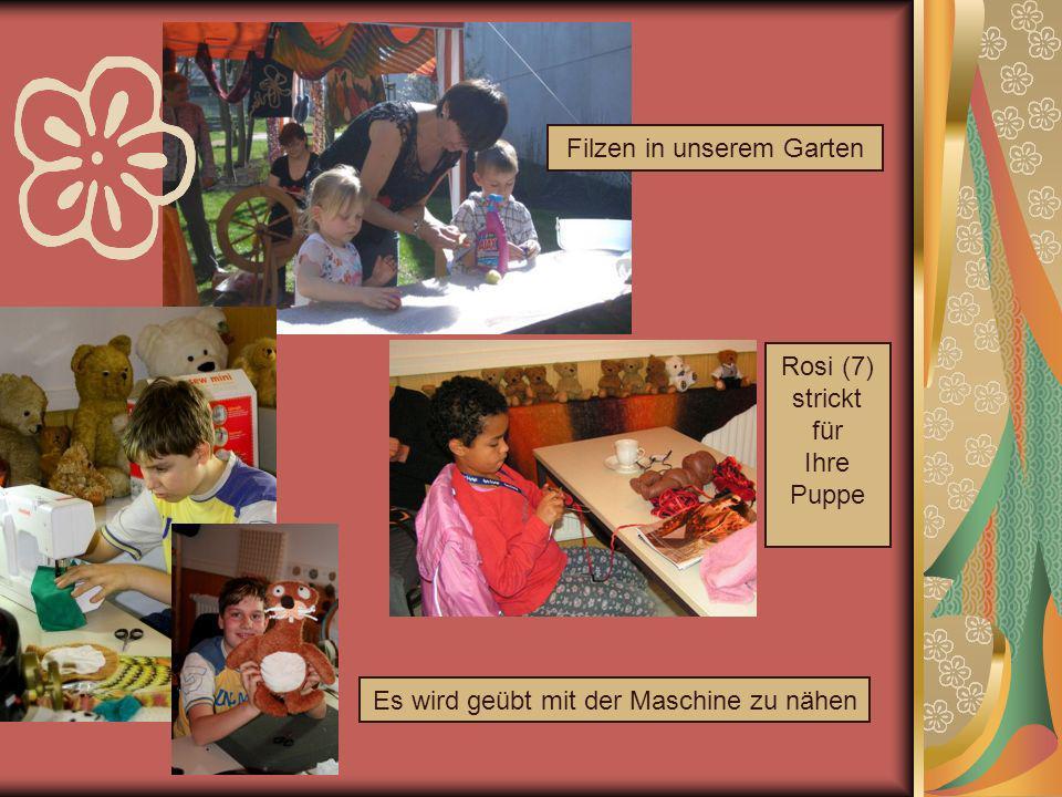 So wird zum Beispiel das ganze Jahr über an einem ganz besonderen Projekt gearbeitet: wärmende Sachen für die Kinder vom Leipziger Verein Straßenkinder e.V.