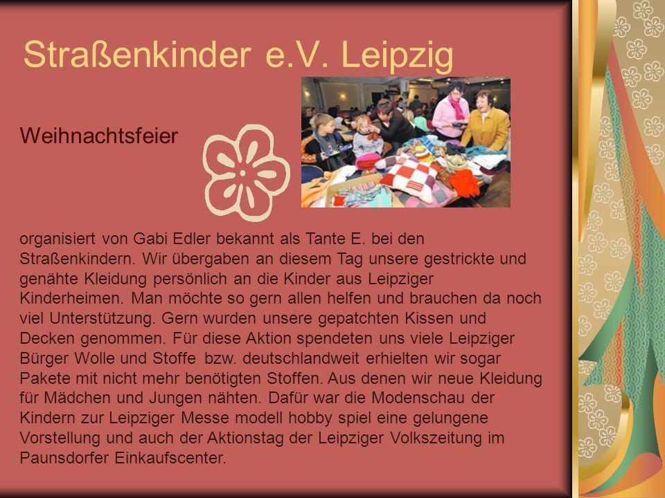 Straßenkinder e.V. Leipzig Weihnachtsfeier organisiert von Gabi Edler bekannt als Tante E. bei den Straßenkindern. Wir übergaben an diesem Tag unsere