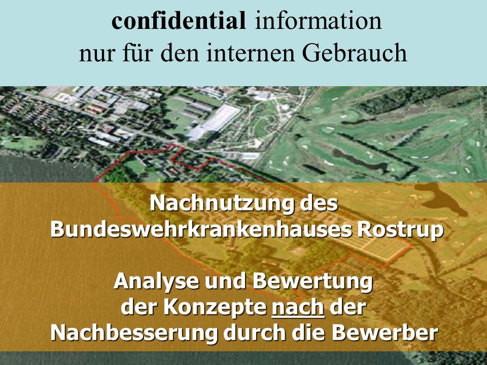 Nachnutzung des Bundeswehrkrankenhauses Rostrup Analyse und Bewertung der Konzepte nach der Nachbesserung durch die Bewerber Gemeinde Bad Zwischenahn