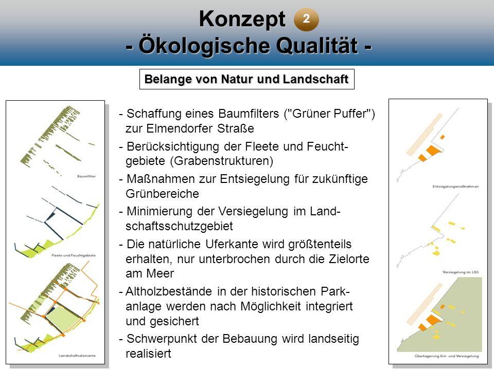 Konzept - Ökologische Qualität - Belange von Natur und Landschaft - Schaffung eines Baumfilters (