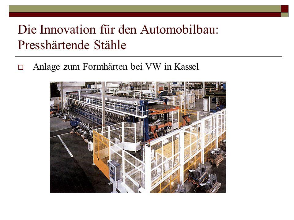 Die Innovation für den Automobilbau: Presshärtende Stähle Anlage zum Formhärten bei VW in Kassel