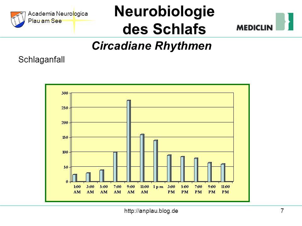 http://anplau.blog.de7 Schlaganfall Academia Neurologica Plau am See Neurobiologie des Schlafs Circadiane Rhythmen