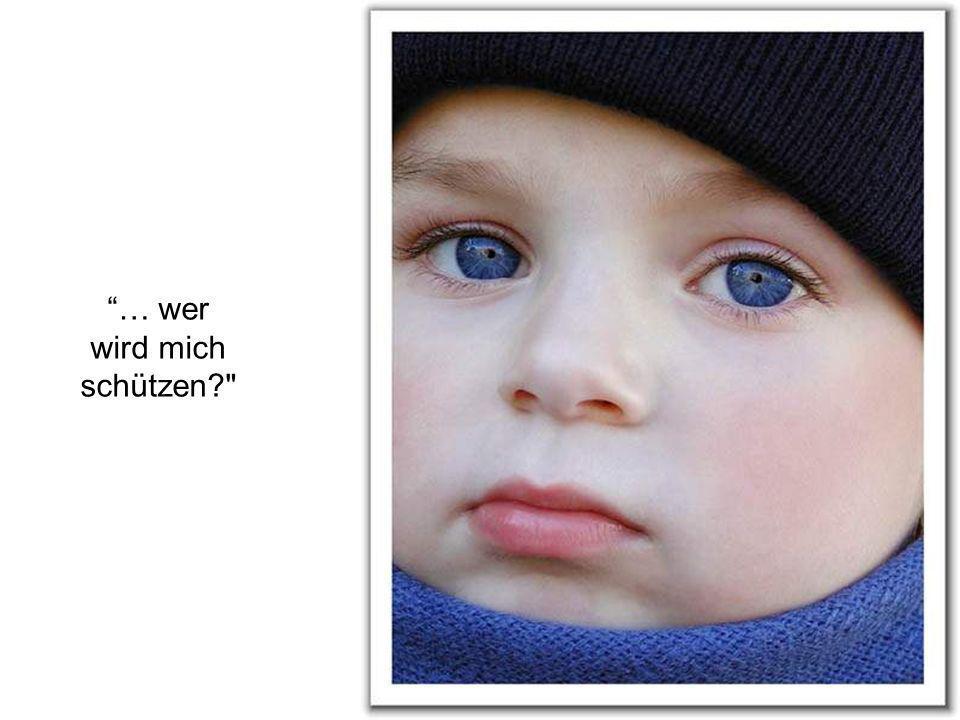 Das Kind schaute ängstlich: