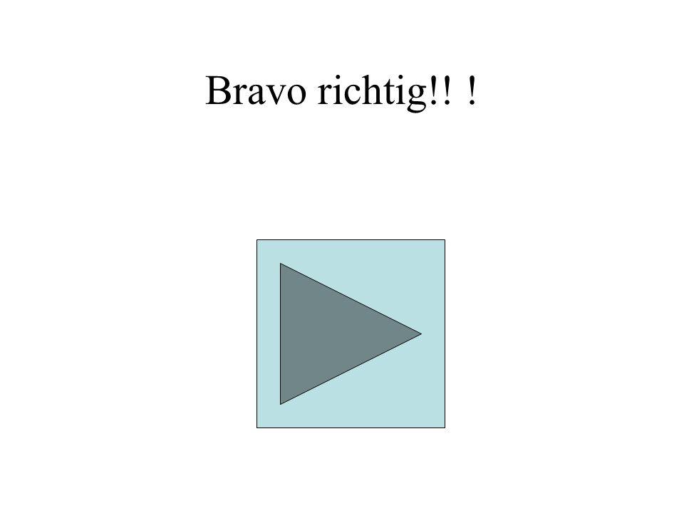 Bravo richtig! !