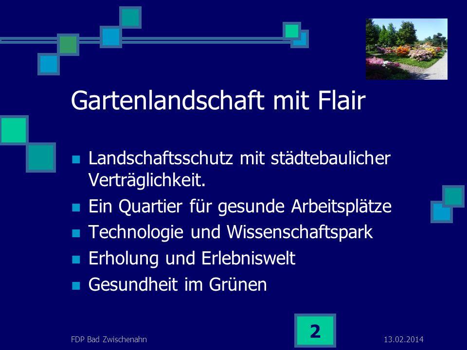 13.02.2014FDP Bad Zwischenahn 1 Eckwertepapier Nachfolgenutzung Rostrup Dr. Horst-Herbert Witt