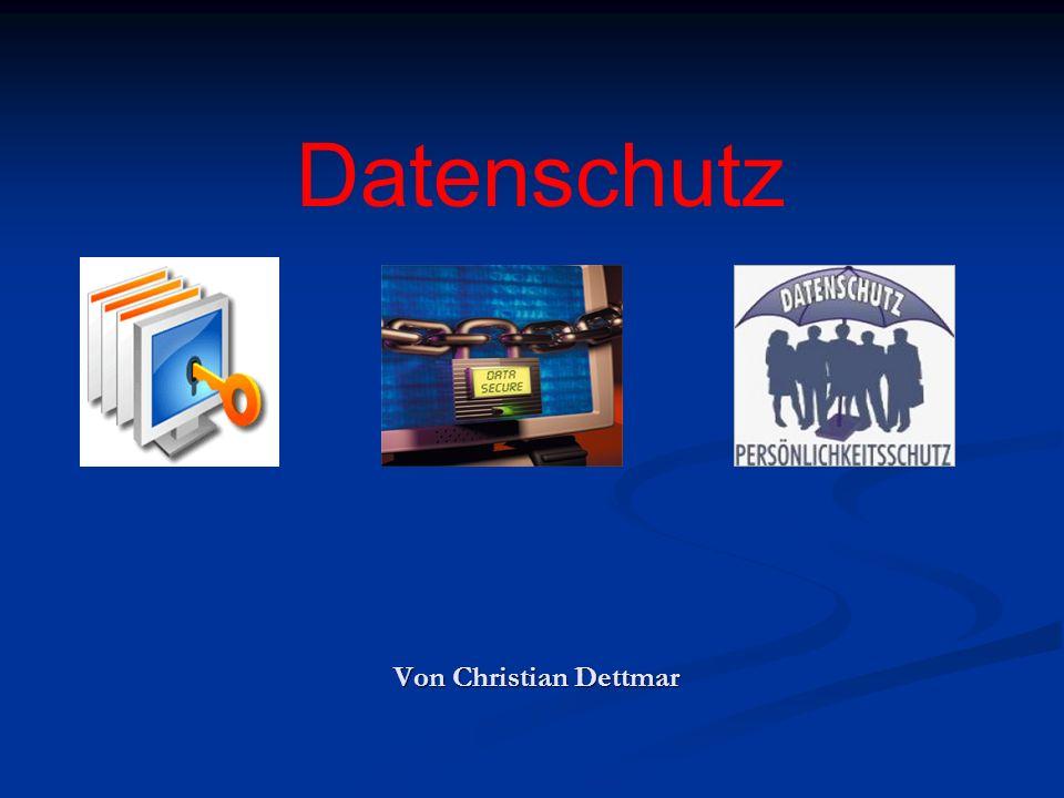 Datenschutz Von Christian Dettmar