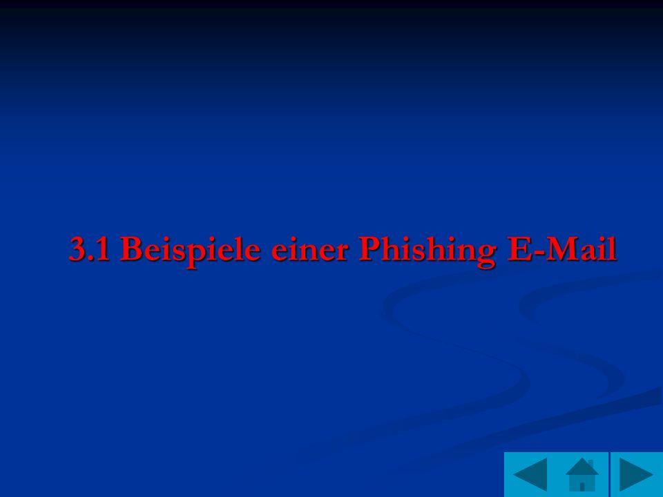 3.1 Beispiele einer Phishing E-Mail