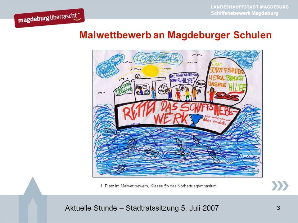 3 Malwettbewerb an Magdeburger Schulen Aktuelle Stunde – Stadtratssitzung 5.