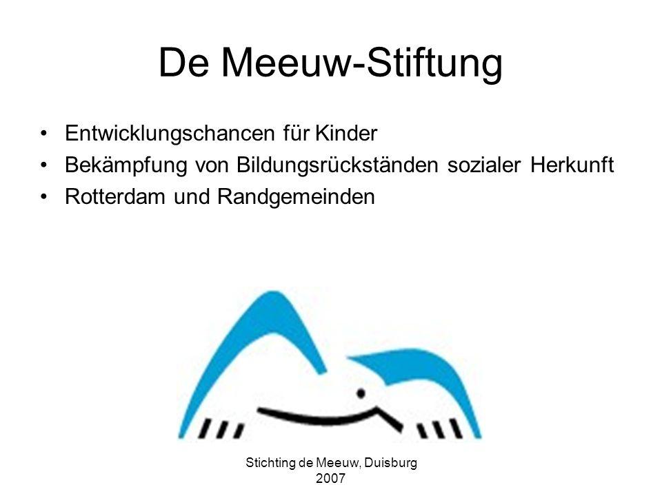 Stichting de Meeuw, Duisburg 2007 Nachbar schaft Schule Haus Entwicklungsdreieck