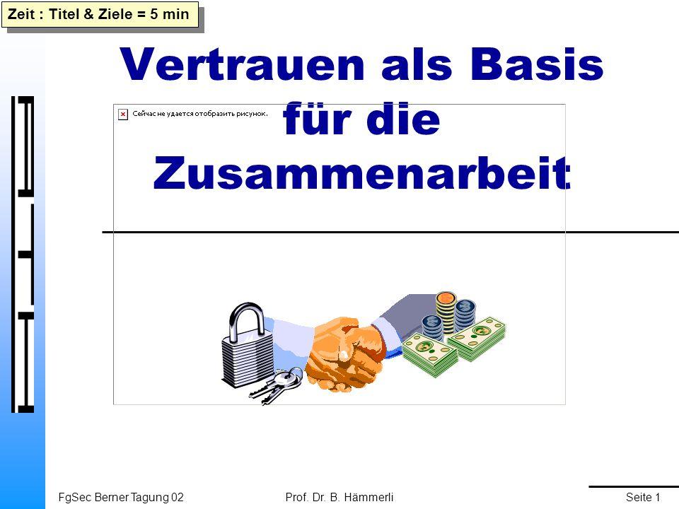 FgSec Berner Tagung 02Prof. Dr. B.