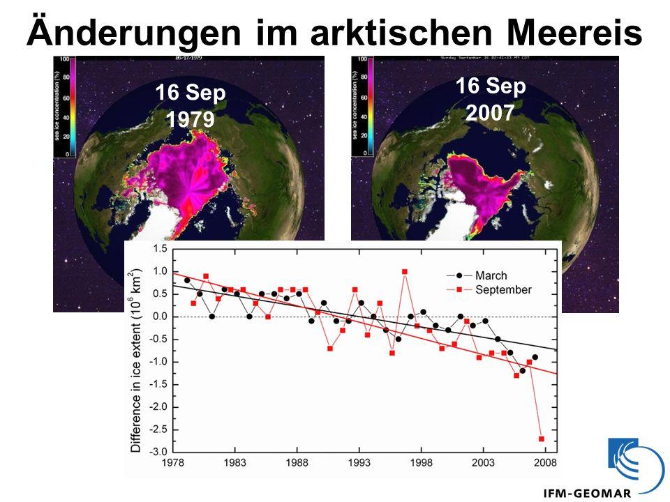 Änderungen im arktischen Meereis 16 Sep 2007 16 Sep 1979