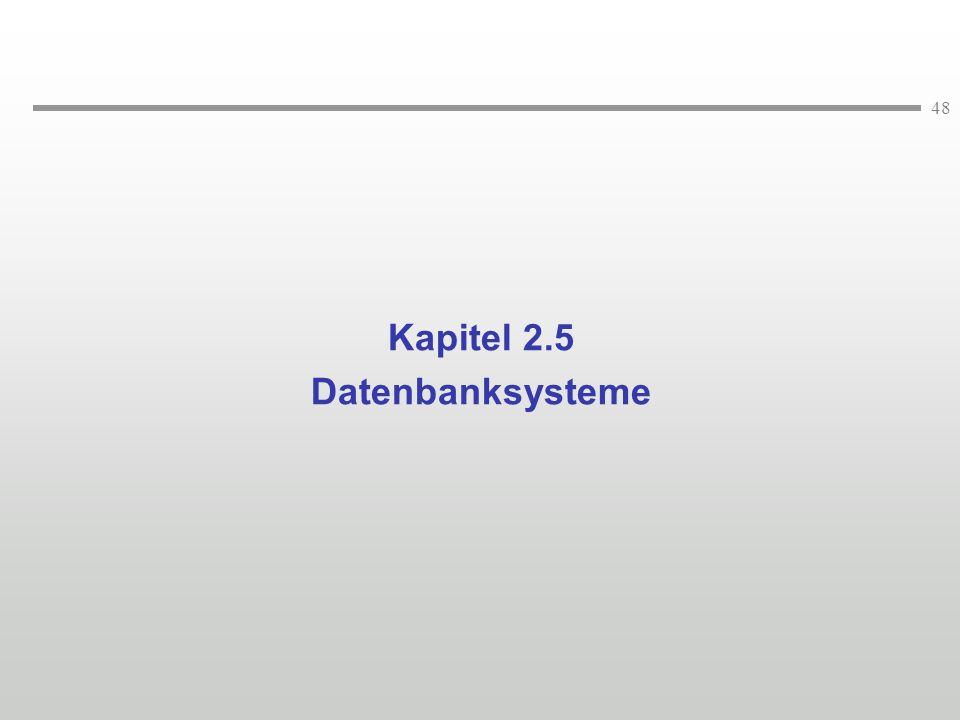 48 Kapitel 2.5 Datenbanksysteme
