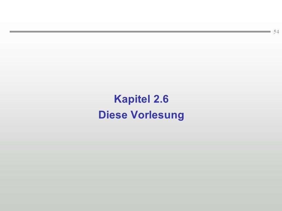 54 Kapitel 2.6 Diese Vorlesung