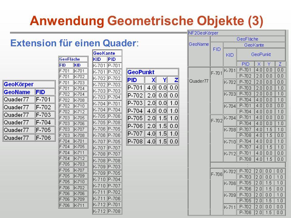 31 Extension für einen Quader: Anwendung Geometrische Objekte (3)
