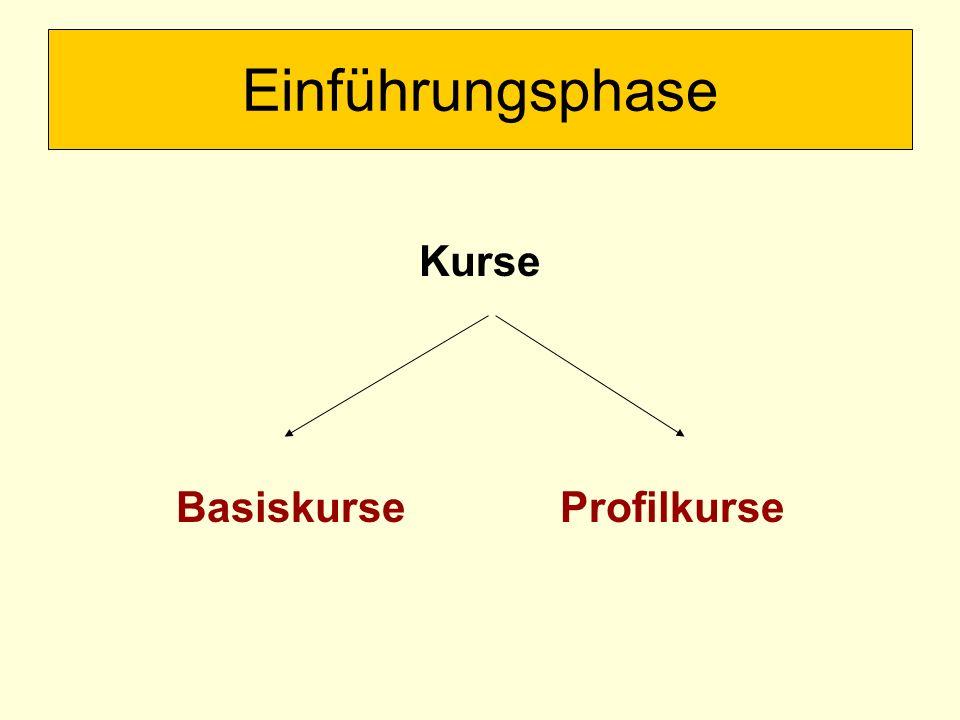 Kurse BasiskurseProfilkurse Einführungsphase