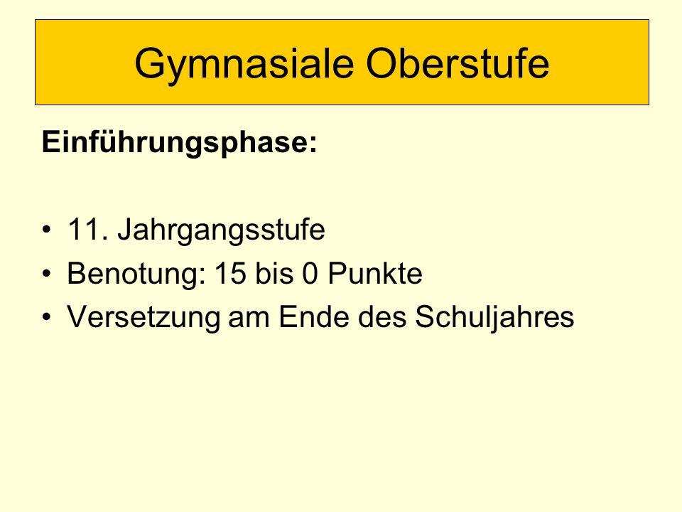 Gymnasiale Oberstufe Kursphase: 12.+ 13.