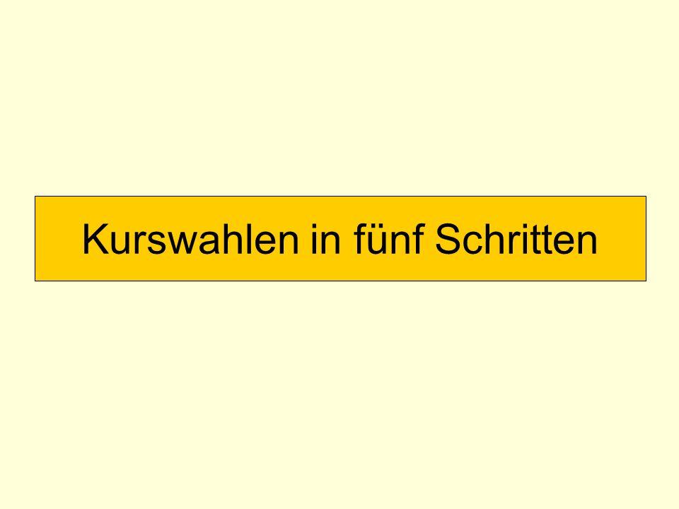 Weitere Grundkurse Folgende Regeln gelten nur, sofern das Fach nicht Prüfungsfach ist: Jede/r muss 4 Semester Deutsch einbringen.