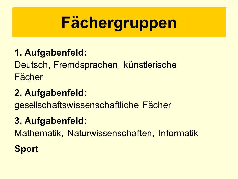 Allgemeine Bedingungen Deutsch oder Mathematik oder eine Fremdsprache muss unter den ersten drei schriftlichen Prüfungsfächern sein.
