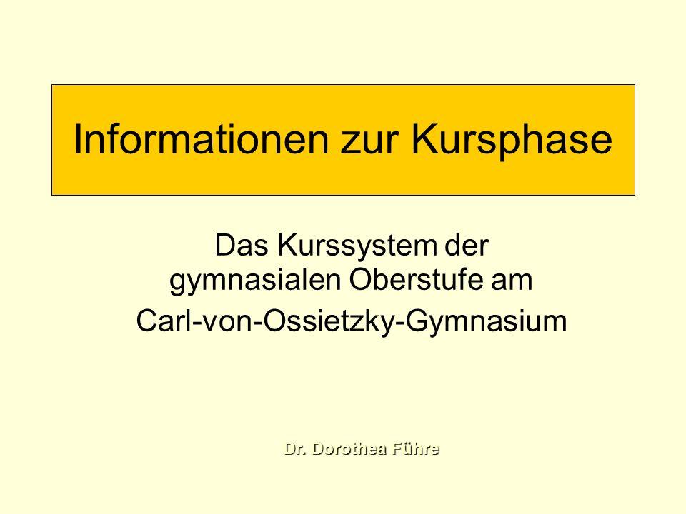 Informationen zur Kursphase Entscheidung: am CvO bleiben nach zwei Jahren Abitur Oberstufenzentrum fachbezogenes Abitur