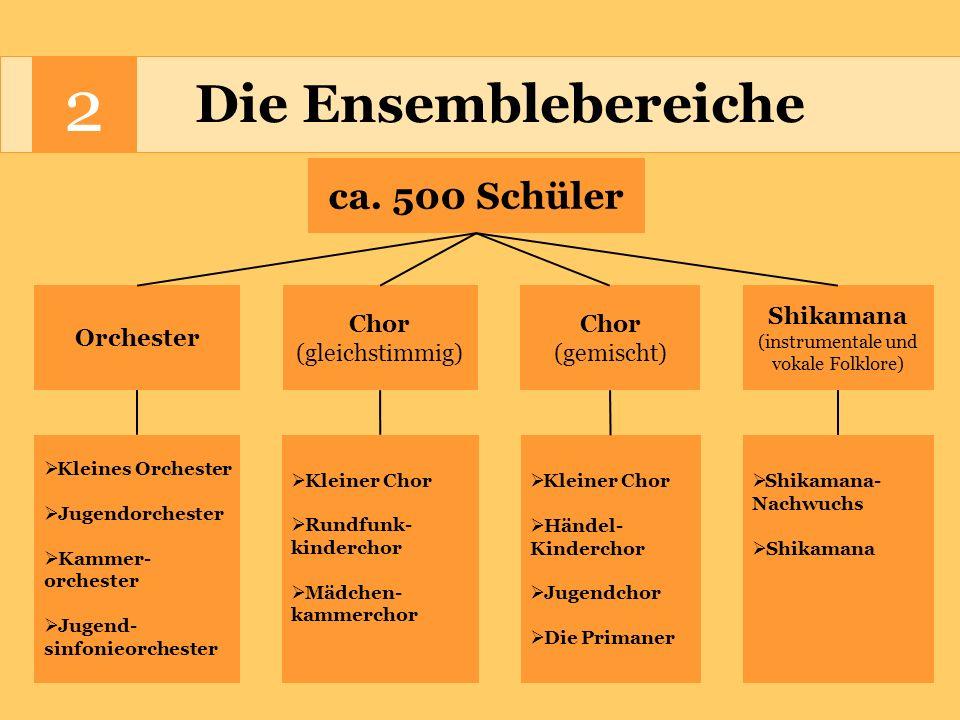 2 Die Ensembleleiter Orchester Hr.Lucchesi Chor (gleichstimmig) Hr.