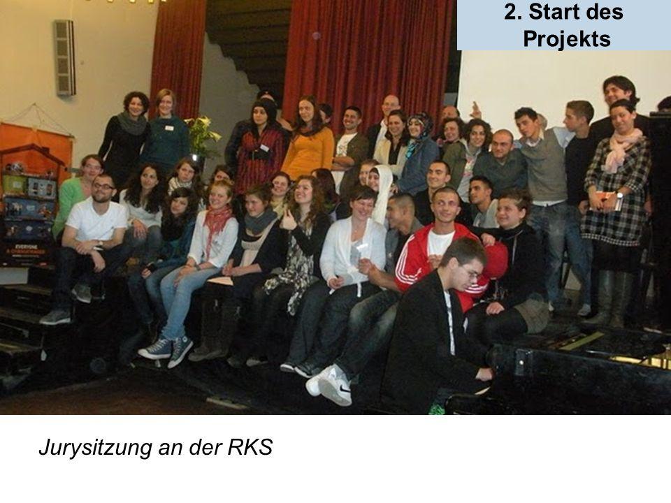 Jurysitzung an der RKS 2. Start des Projekts