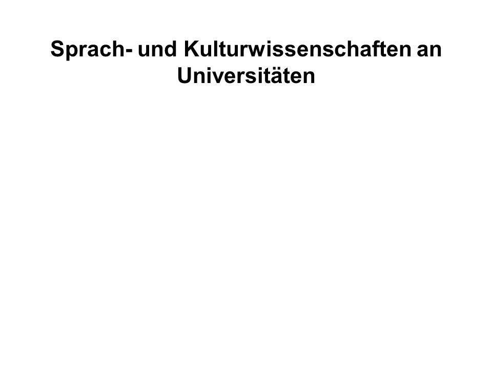 Absolventen / Wissenschaftler- stelle Drittmittel in TDM / Wissenschaftlerstelle Lehrerfolg Forschungserfolg Sprach- und Kulturwissenschaften an Universitäten
