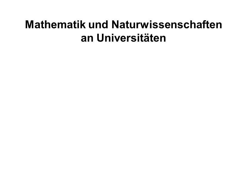 Absolventen / Wissenschaftler- stelle Drittmittel in TDM / Wissenschaftlerstelle Lehrerfolg Forschungserfolg Mathematik und Naturwissenschaften an Universitäten