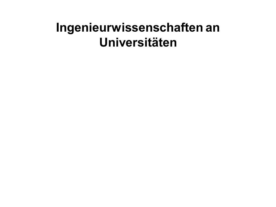 Absolventen / Wissenschaftler- stelle Drittmittel in TDM / Wissenschaftlerstelle Lehrerfolg Forschungserfolg Ingenieurwissenschaften an Universitäten