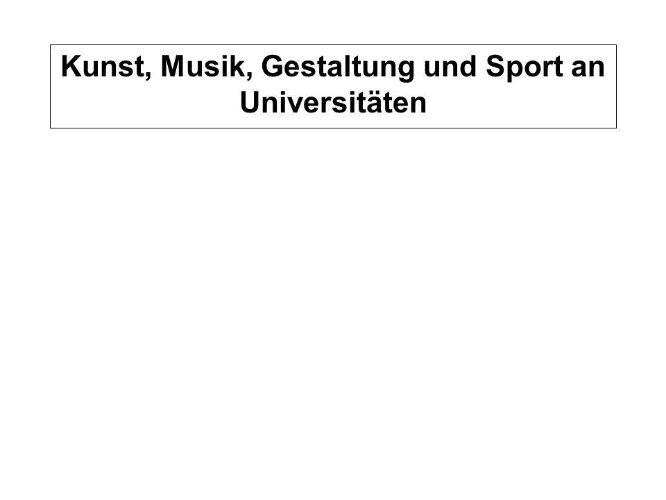 Auslastung Mittel 1999-2001 Normstudienplätze WS 2001/2002 Kunst, Musik, Gestaltung und Sport an Universitäten