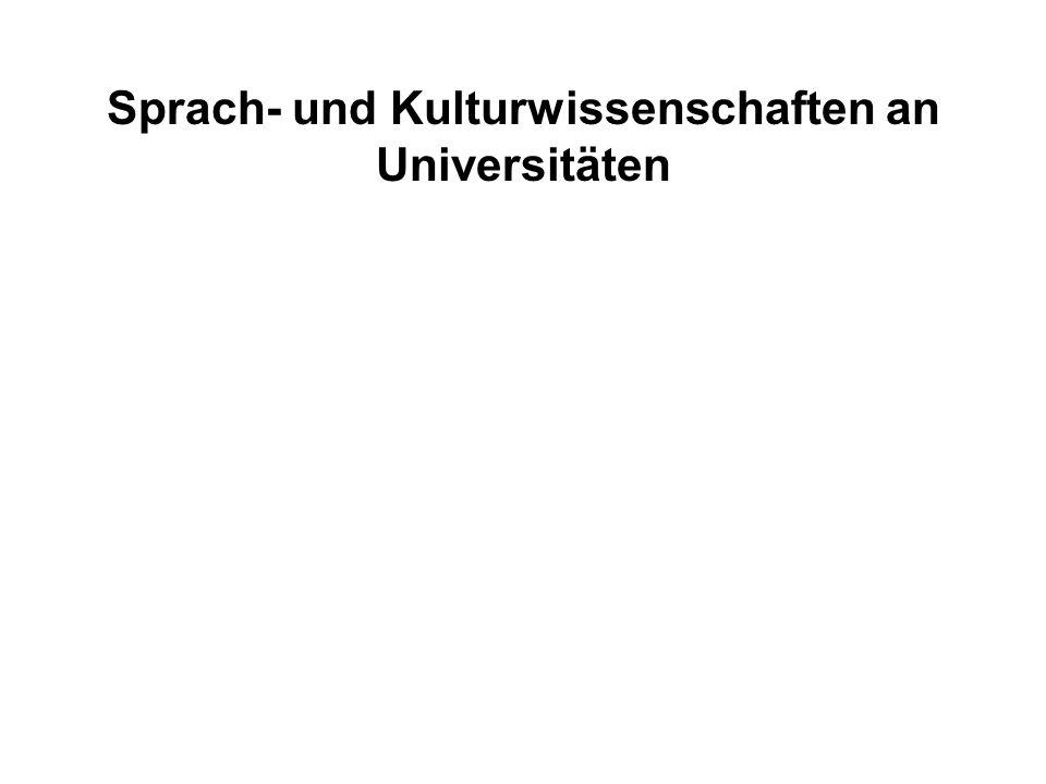 Sprach- und Kulturwissenschaften an Universitäten