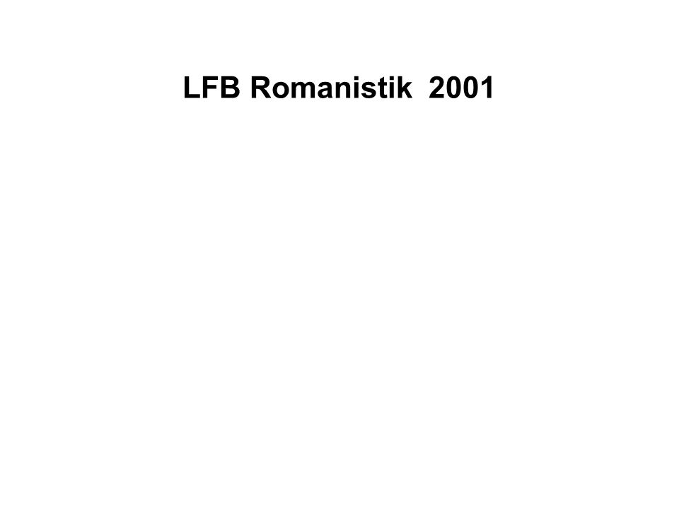 LFB Romanistik 2001
