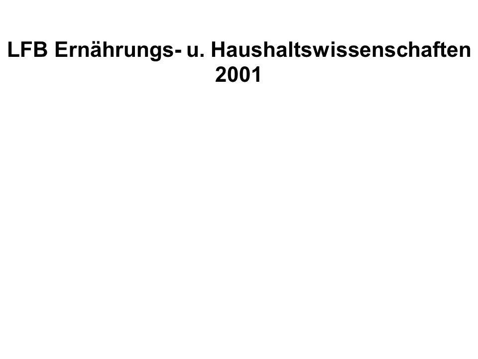 LFB Ernährungs- u. Haushaltswissenschaften 2001