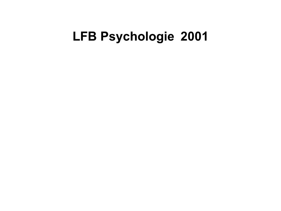 LFB Psychologie 2001