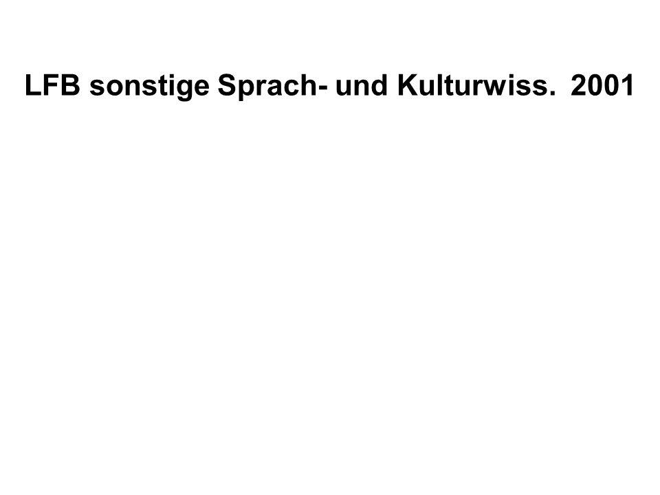 LFB sonstige Sprach- und Kulturwiss. 2001