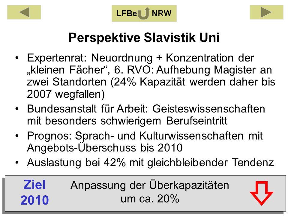 Expertenrat: Neuordnung + Konzentration der kleinen Fächer, 6.