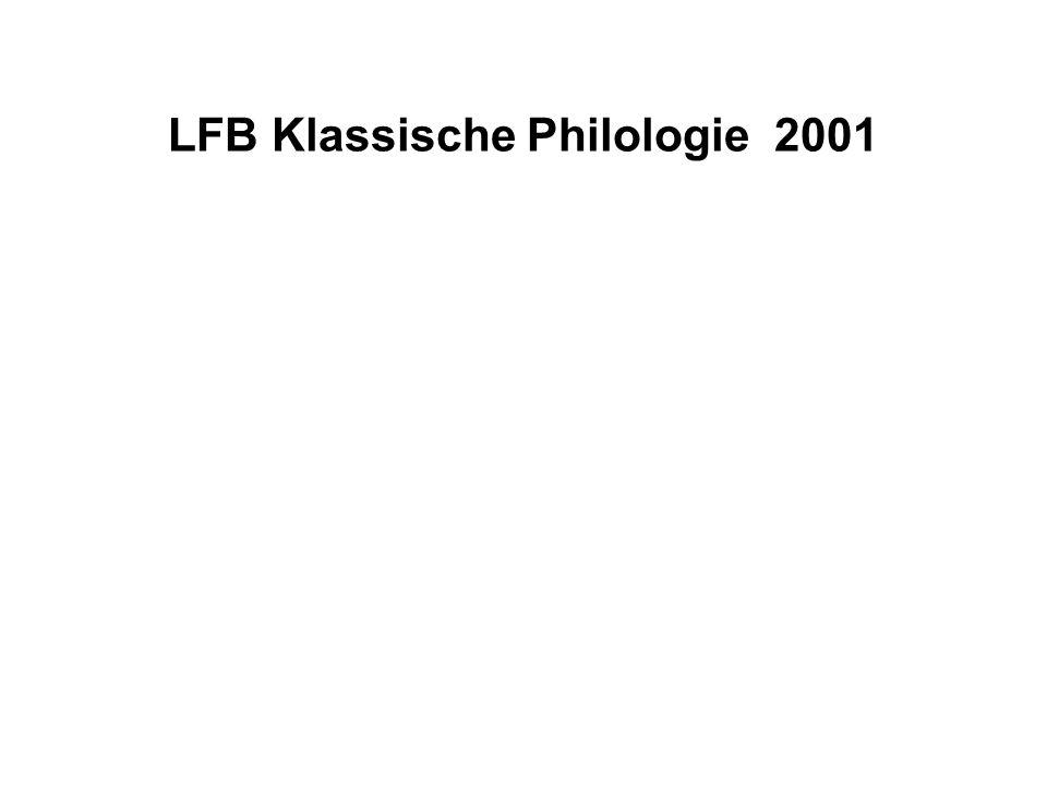 LFB Klassische Philologie 2001