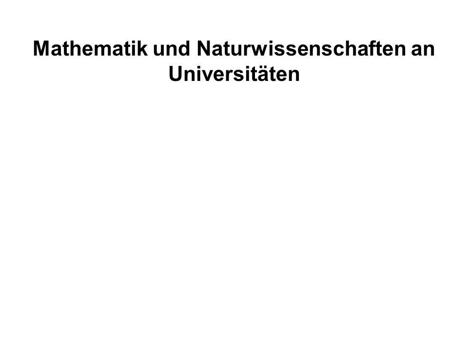 Mathematik und Naturwissenschaften an Universitäten