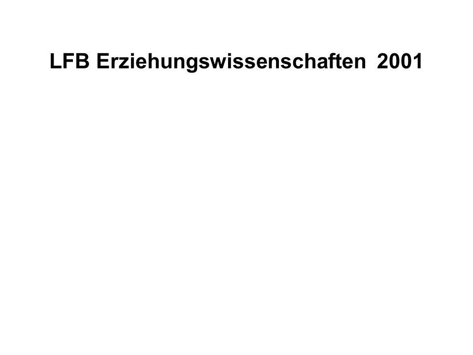 LFB Erziehungswissenschaften 2001