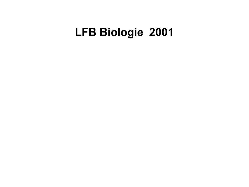 LFB Biologie 2001