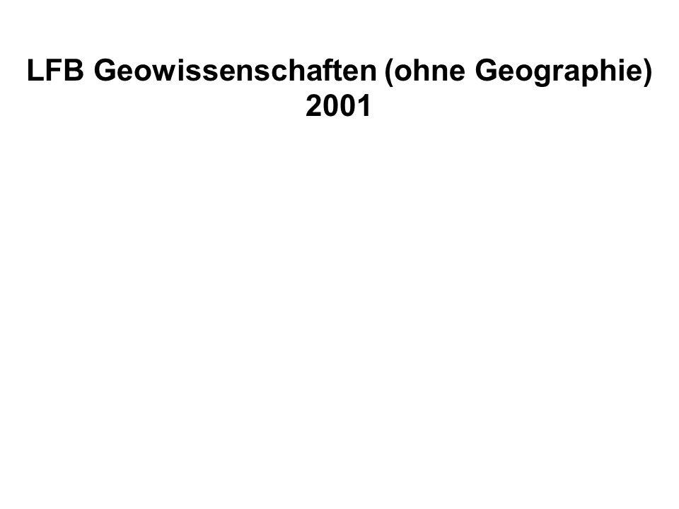 LFB Geowissenschaften (ohne Geographie) 2001