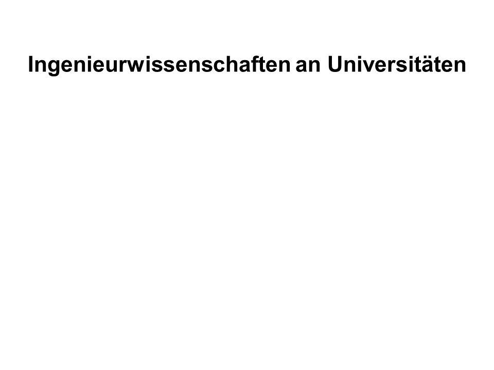 Ingenieurwissenschaften an Universitäten