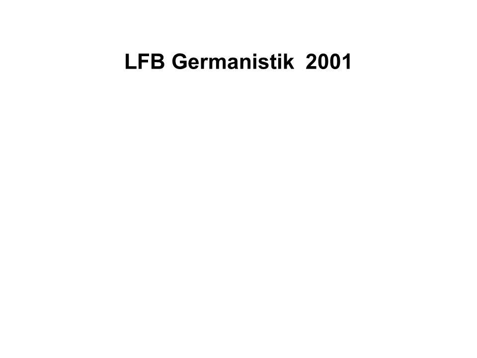 LFB Germanistik 2001