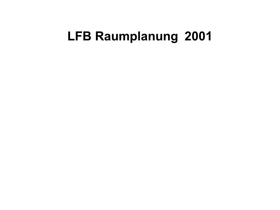LFB Raumplanung 2001